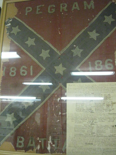 This flag was flown at the Spotsylvania Court House battle.