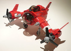 A-20 Red Zephyr (JonHall18) Tags: plane fighter lego aircraft fantasy scifi vehicle moc