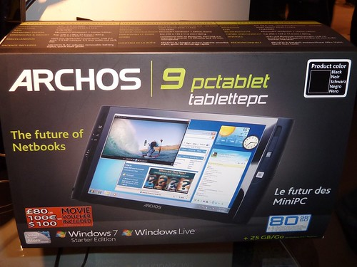 archos lance larchos pctablet une tablette tactile sous windows