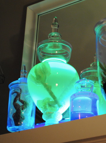 Glowing Apothecary Jars - Halloween Decorations