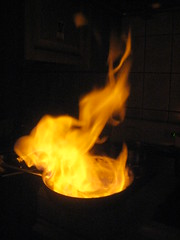 Flaming Steak Diane