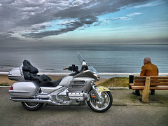 Honda Goldwing (CWhatPhotos) Tags: pictures bike honda silver that lumix japanese photo big tour with photos north wing picture east panasonic adventure have motorbike together adobe moto motorcycle 1800 dmc jap goldwing lightroom saltburn tourer japenese gl1800 panasoniclumix 1800cc paintshopprophotox2 fs15 dmcfs15 cwhatphotos