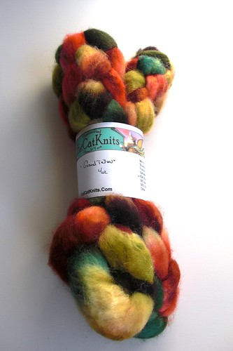 Grand Tetons by FatCatKnits, sw BFL 4oz