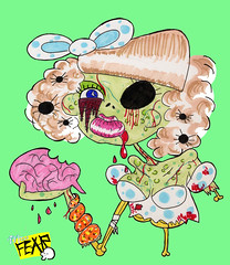 cute zombie (miss-fear) Tags: laura cute art halloween tattoo vintage design little zombie decay fear funeral brains after deviant deviantart