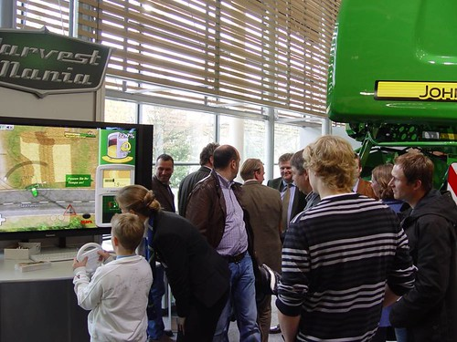 HarvestMania on John Deere's fair booth, at AgriTechnica, Hannover, 2009