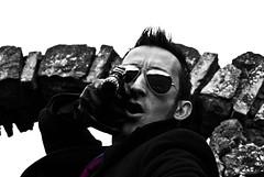 (Daniele Peruzzi) Tags: street light portrait people urban bw italy white black abandoned glass face dark eyes nikon gun italia shadows shot decay dirty bn ombre occhi killer luci bianco ritratto nero viso pistola brutal lazio anagni occhiali cs3 volto abbandono ciociaria roob d80 nikond80