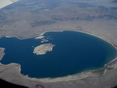 Mono Lake and Paoha Island (brewbooks) Tags: california lake island volcano basin monolake airborne monocounty negitisland paohaisland iadsfo endorheic