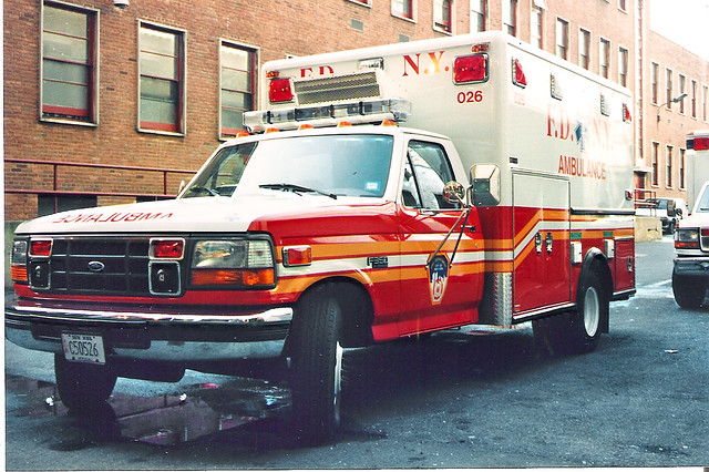 bus ford fire ambulance trucks 1994 ems fdny f350
