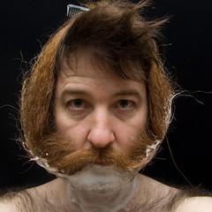 _DSC6218 (dogseat) Tags: selfportrait me hair beard sp shaving shave sideburns nsfw 365 babushka dogseat beardo combover shavingcream project365 365days dundrearies 173365