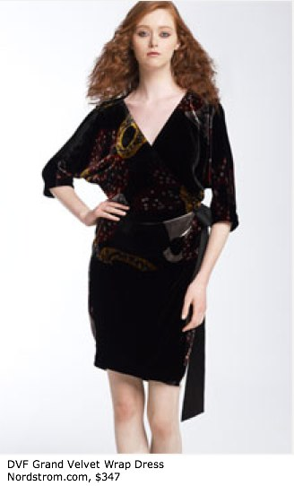 Diane von Furstenberg _Grand_ Velvet Wrap Dress - Sleeves - Nordstrom
