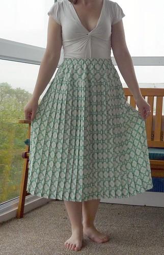 Sewing - Green skirt