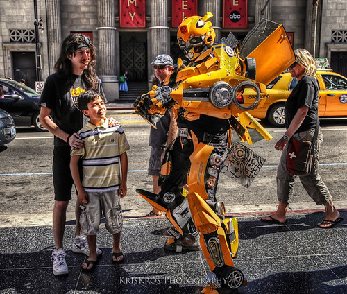 bumblebee at hollywood boulevard
