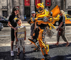 bumblebee at hollywood boulevard (Kris Kros) Tags: california car cali photoshop movie photography la robot losangeles los high boulevard dynamic angeles action bumblebee transformers hollywood hero superhero kris range hdr blvd kkg blockbuster cs4 photomatix kros kriskros 1xp dsc3685 kkgallery