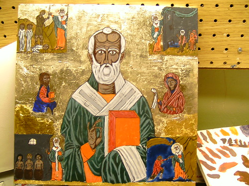 St. Nicholas Icon, highlight