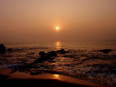 Happy Weekend (Ratnakar2.) Tags: morning sea sun nature sunrise dawn olympus stylus vizag visakhapatnam morningsea rishikondabeach 1010sw muvo1010
