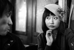 london 2009 - patrick and satoko (travelight) Tags: leica friends portrait blackandwhite london beauty digital noir f14 patrick m8 2009 satoko 2500iso 35mmsummiluxasph travelight whimsicalhat
