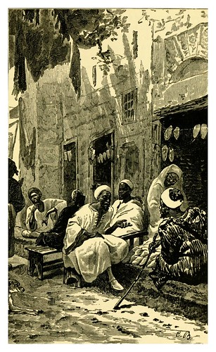 060-Tienda de ropa en Fez-Morocco its people and places-Edmondo De Amicis 1882