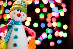 Happy Holidays! (Will Montague) Tags: christmas winter holiday 50mm prime lights snowman nikon bokeh kentucky christmastree montague treelights d80 willmontague