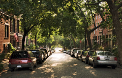 parked cars on Joralemon Street, Brooklyn Heights, New York (lumierefl) Tags: street newyorkcity usa ny newyork architecture brooklyn unitedstates brooklynheights americanflag places neighborhood northamerica residential northeast kingscounty lumierefl sminor brooklynheightsny