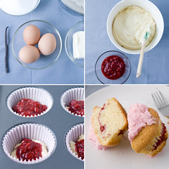 cooking on a saturday afternoon (dear_new_girl) Tags: cooking kitchen cake recipe cupcake butter raspberries egges