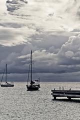 La Jete (Johann Pourcelot) Tags: sea mer iso200 martinique bleu nuages bateau f11 voile quai jete bleue 120mm antilles darksky carabes outremer nuageux 2011 domtom 1400s 23ev nikond700 1400sf11 nikontransfer15w afdnikkor24120mmf4