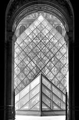 Triangular (HaHa UK) Tags: paris france art monument glass museum architecture delete2 louvre monalisa davinci save3 delete3 save7 save8 delete save save2 save9 save4 pyramids save5 save10 save6 savedbydeletemeuncensored