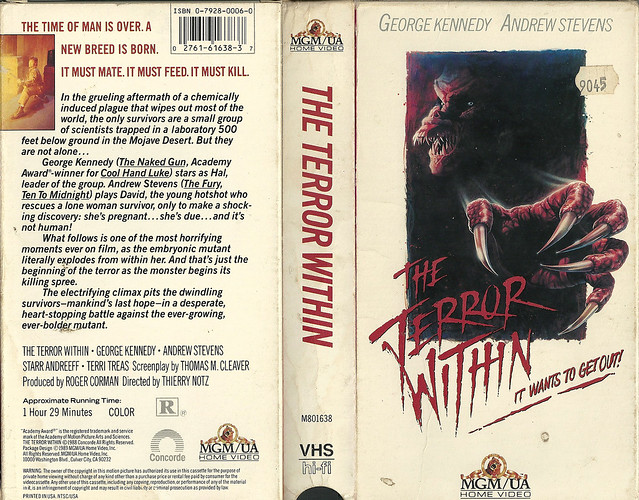 The Terror Within (VHS Box Art)