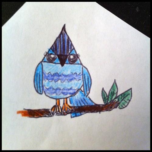 Wee Blue Bird