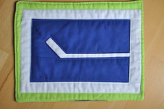 Canucks Hockey stick Mug Rug