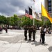 Pueblo of Zuni Color Guard Procession. Black Creek Gourd Society Annual Gourd Dance. Memorial Day Weekend. U.S. Navy Memorial Plaza in Washington, DC. Photo by Jared King / NNWO