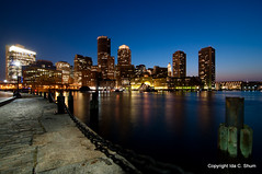 Boston Blu'ens (idashum) Tags: nightphotography boston skyline night landscape photography nikon downtown cityscape waterfront massachusetts ida shum bostonskyline d300 fanpier wharfdistrict idashum idacshum shootingwithikons98