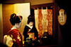 with downcast eyes (moaan) Tags: leica 50mm kyoto dof bokeh f10 maiko geiko geisha utata 京都 kitano noctilux tradition 2009 leicam7 odori m7 芸者 北野 芸妓 舞妓 kaburenjo kitanoodori 北野をどり 上七軒歌舞練場 japanesetradition 歌舞練場 leicanoctilux50mmf10 otemae ichimame kodakektachrome400x 市まめ お茶席 お点前 kamishichikenkaburenjo ichimomo 市桃 ochaseki giltfoldingscreen gettyimagesjapanq1 gettyimagesjapanq2