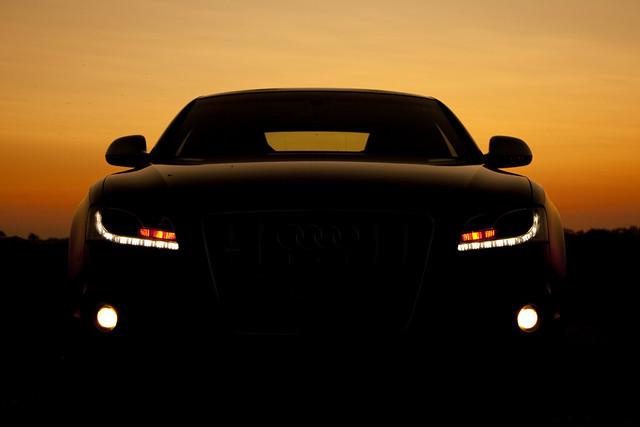 sunset silhouette headlights audi s5 audis5 pss:opd=1246546523