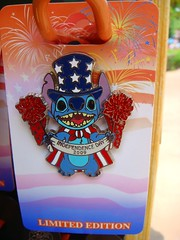 Happy Fourth of July! (partyhare) Tags: pin stitch fireworks disney july4th independenceday 2009 limitededition starsandstripes disneypin islandmercantile