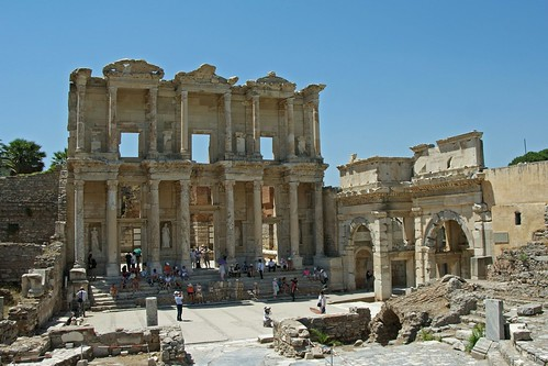 Ephesus, Turkey.  the library
