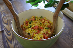 Corn and Tomato Scramble