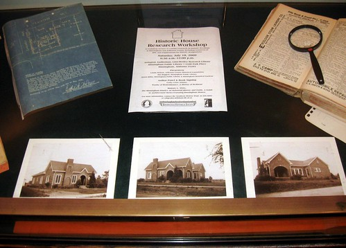 Historic House Research Display by Birmingham Public Library (AL)