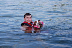 Me and Delilah swimming (amature pictures) Tags: girls wild wet gone wetgirl wetgirls