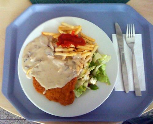 Schnitzel mit Jägersauce