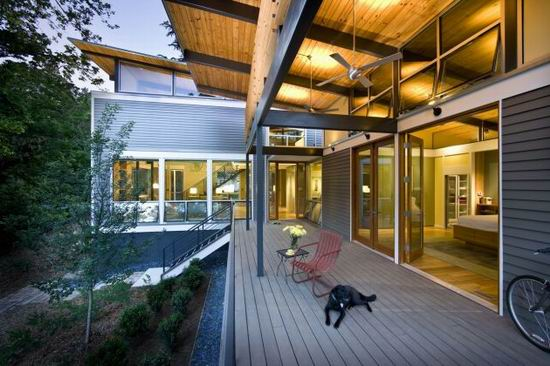 Modern Wooden RainShine House Design by Robert M. Cain | Home and ...