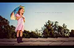 Up Where They Play (isayx3) Tags: blue trees roof portrait sky sunlight ariel up 35mm nikon dof boots little disney f2 mermaid nikkor softbox umberella d3 sb800 24x24 strobist itsalittlemermaidreferenceyouknuckleheads