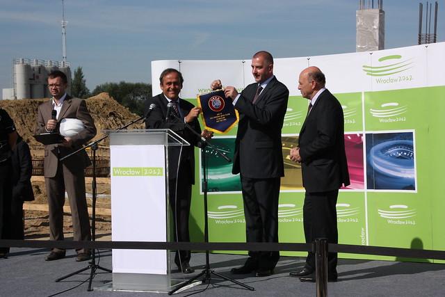 Michel Platini's visit