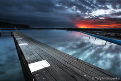 Sunrise @ Narrabeen (-yury-) Tags: ocean sea beach pool clouds sunrise landscape sydney australia nsw tidal narrabeen