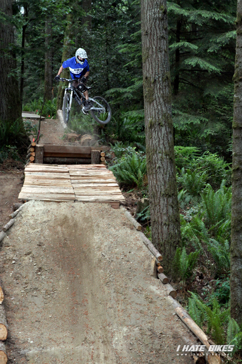 Whipping it out on the Dirt Corp Jump line at Duthie Hill