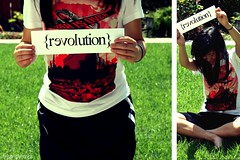 Revolution (Sarah Ching) Tags: red love grass sign loving airplane outside war think over obey changing revolution change drastic