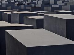 Memorial to the Murdered Jews of Europe - Berlin, Germany (EagleXDV) Tags: trip travel sunset berlin monument canon germany concrete memorial europe stele murder jewish brandenburg holocaustmemorial victims worldwar2 slabs 450d