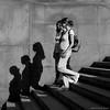 Following their shadows (CVerwaal) Tags: girls blackandwhite stairs analog pen women shadows centralpark olympus ishootfilm oldschool om zuiko bethesdaterrace olympusep1