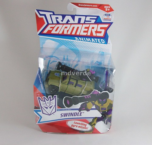 Transformers Swindle Animated Deluxe - caja