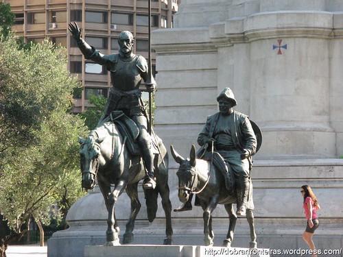 Monumento a Dom Quixote na Praça de Espanha, Madrid