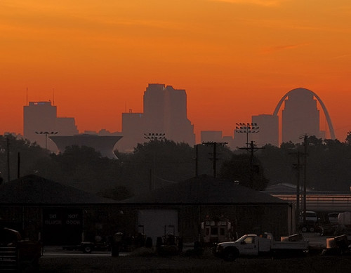 Downtown Saint Louis, Missouri, USA, at sunrise